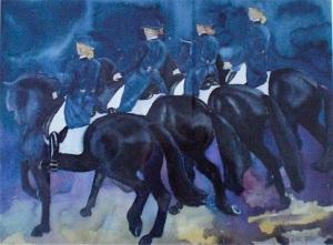 Fyra svarta hästar